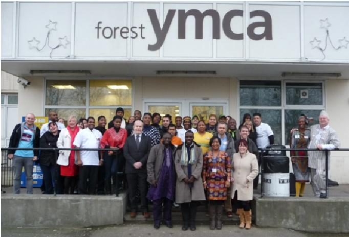 Forest YMCA staff and Gerard Atohoun, General Secretary of Togo YMCA (front left) and Koffi Yovi, Second Vice President in charge of programmes (front second from left) on their last day