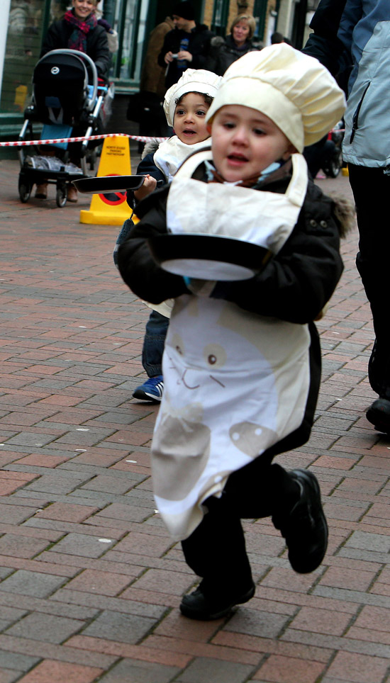 Shops and schools deserted in favour of pancake race
