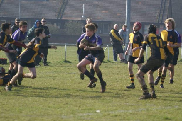 Rhys Phillips in action for Woodford