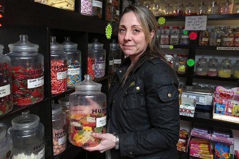 Karen Baker is closing the Humbug sweet shop because of falling numbers in people coming to Epping.