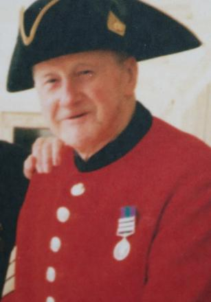 Chelsea Pensioner Tom Isted, who died last year aged 86.