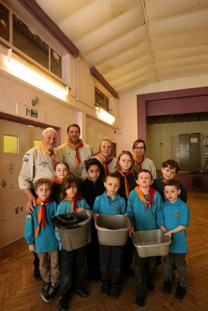 Scout troop thank community for helping raise money to fix hall
