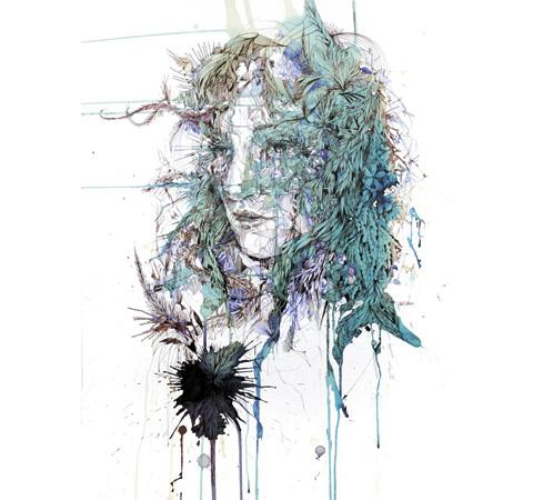 Carne Griffiths uses brandy and tea to get the effect he wants for his paintings