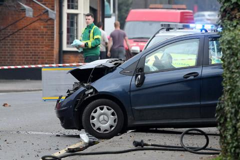 Update: Three people taken to hospital following town centre crash