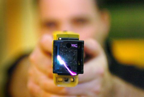 Taser were used to shock people 33 times last year