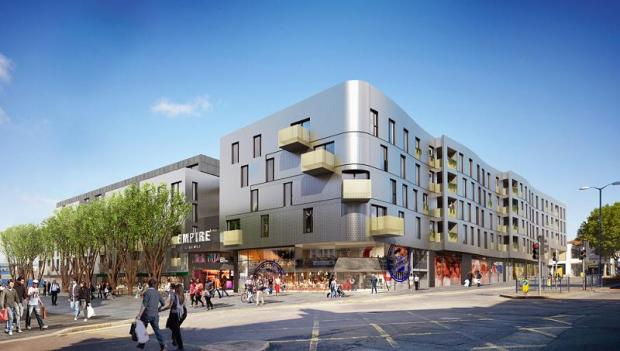 An artist's impression of the Walthamstow development.