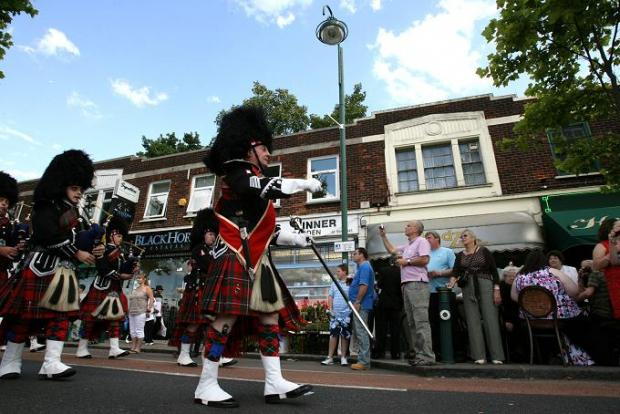 Epping Forest Pipe Band at last year's Leytonstone Festival parade