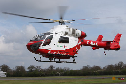 Hertfordshire Air Ambulance has air lifted one person to hospital.