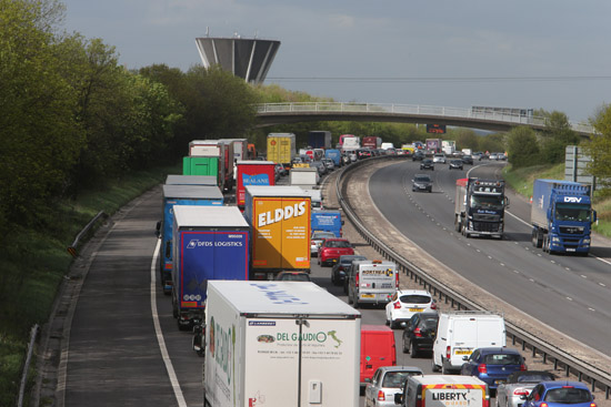The northbound M11 is expected to be closed between junctions seven and eight until around 8.30pm