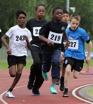 Local school children take part in the Quad Kids Athletics Competition. (click image for video)