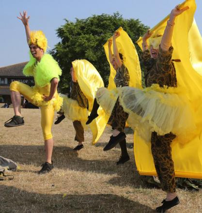 Performers at last year's Fairlop Fair.