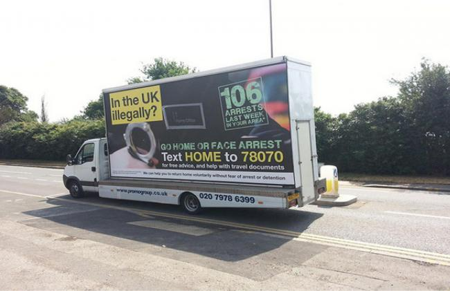 Van telling illegal immigrants to go home 'stirs up hatred'