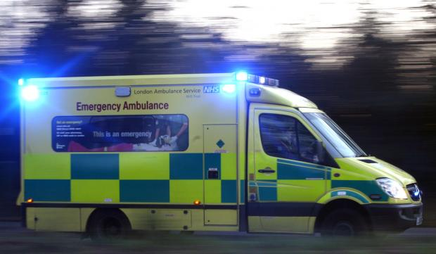 Cyclist rushed to hospital following collision