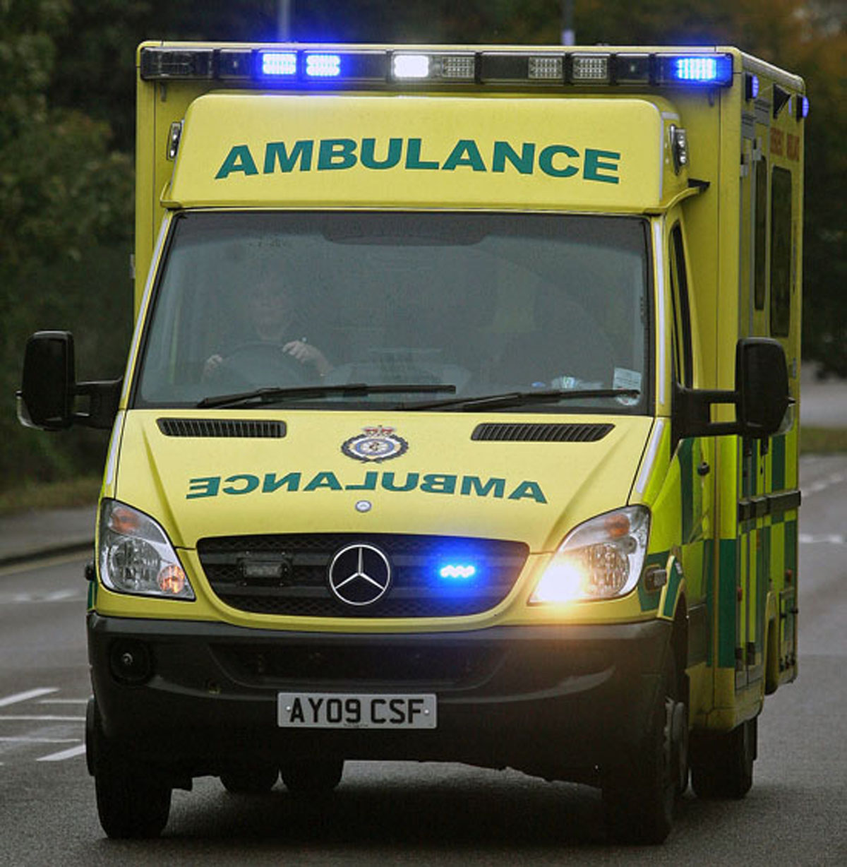 A man was left in the care of ambulance staff