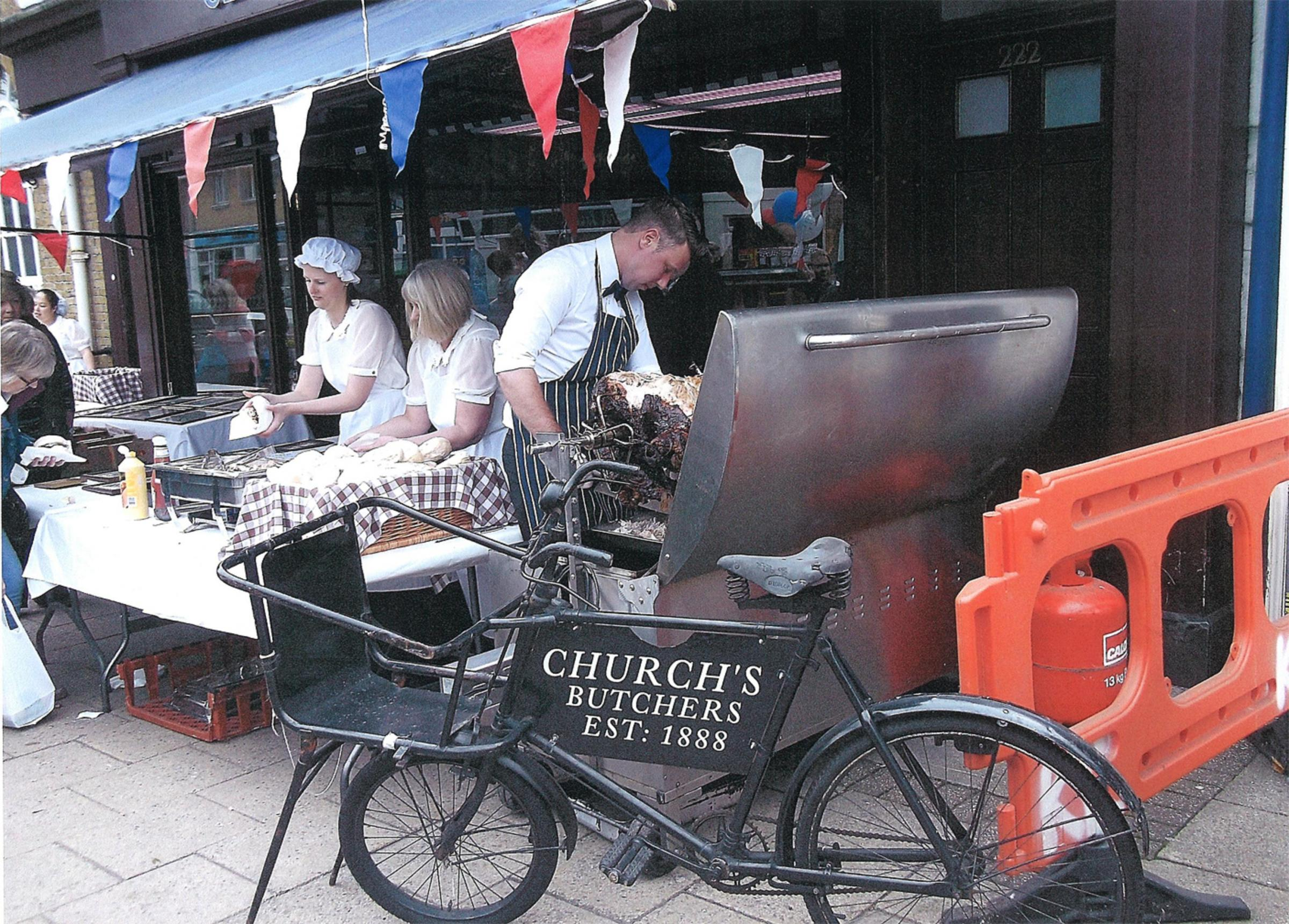 The vintage bicycle outside Church's butchers