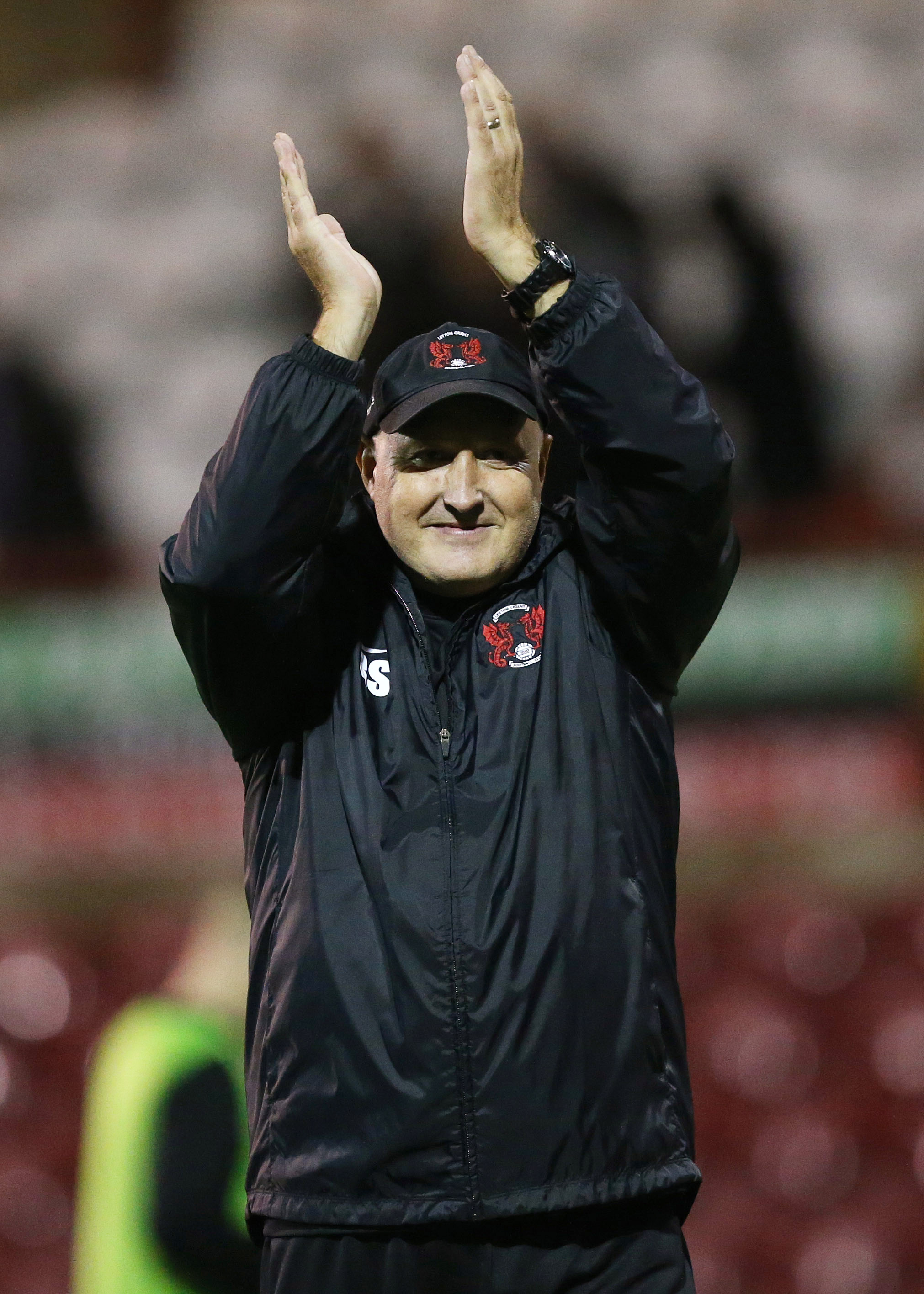 Russell Slade thanked the fans for their support: Action Images