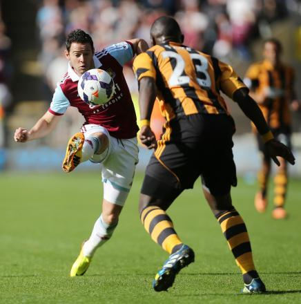 Matt Jarvis fired the Hammers in front but the lead was shortlived: Action Images