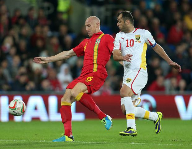 James Collins scored for Wales last night: Action Images