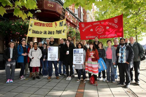 Redbridge teachers on strike last October