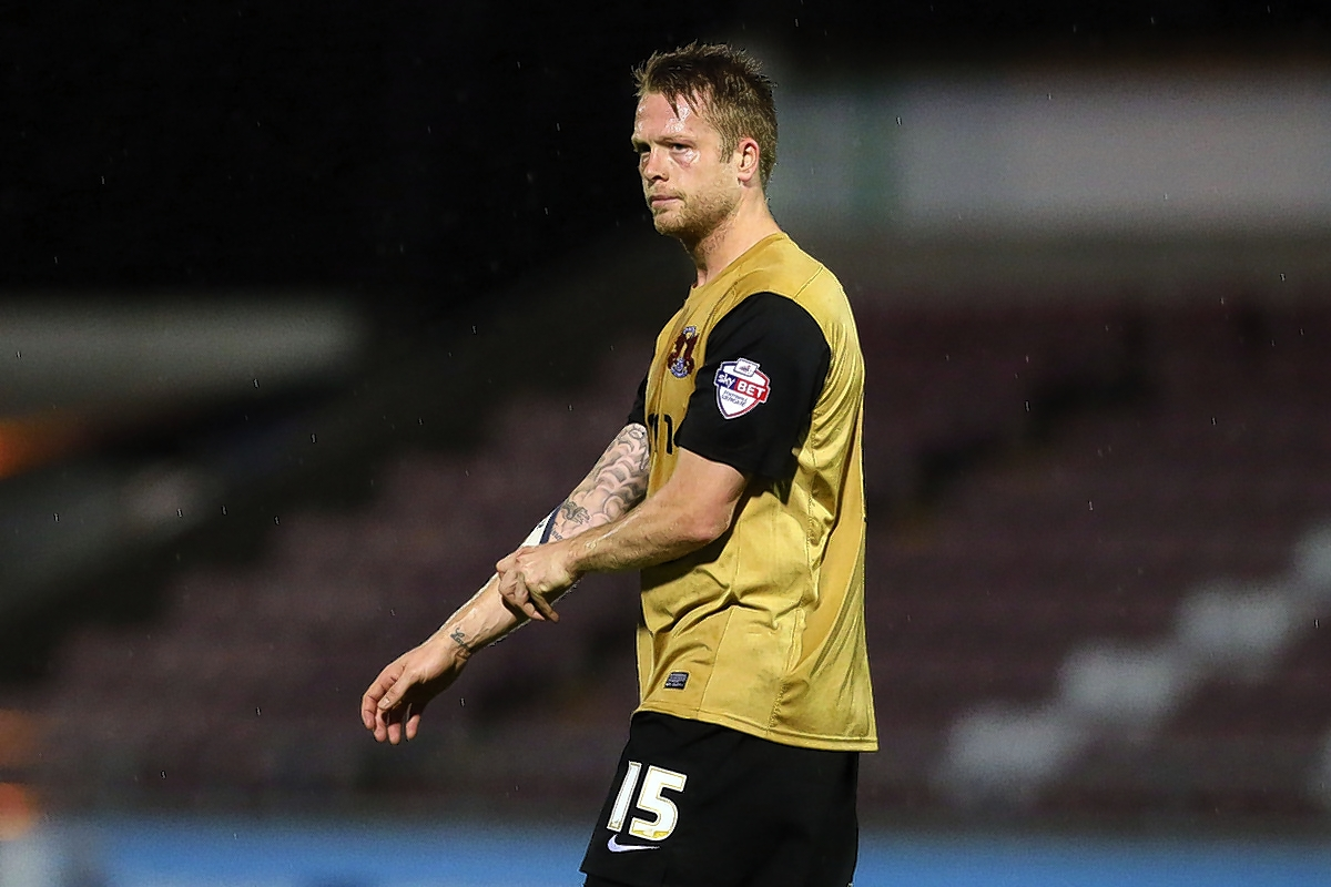 Nathan Clarke led out the O's against Notts County at Meadow Lane: Simon O'Connor