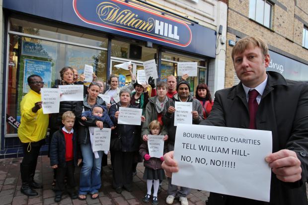 Cllr Clyde Loakes and residents campaigned against another betting shop Leytonstone
