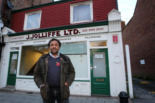 Bali Singh-Digpaul at the site for his proposed shopping arcade