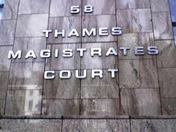 Sentencing will take place at Thames Magistrates Court
