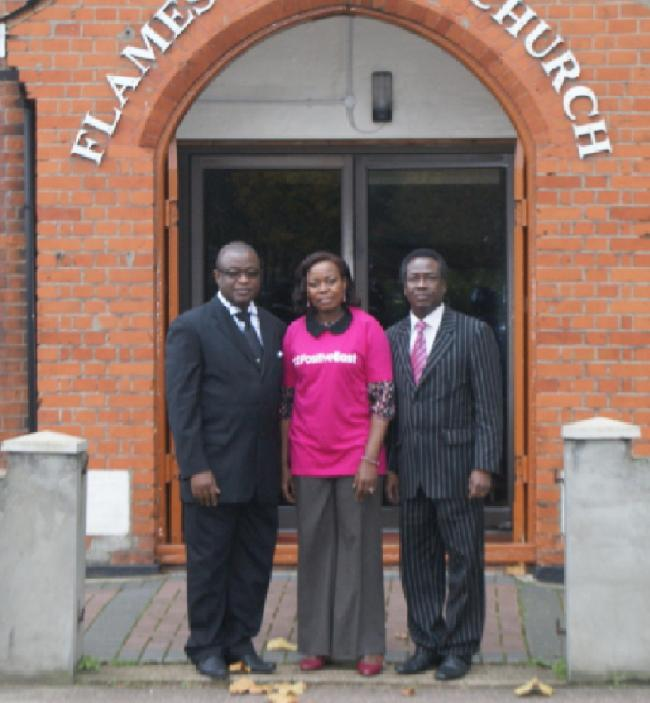 Bishop Eric Ntorinkansah, Beatrice Nabulya from Positive East and Rev Fred Annin, CEO and founder of ActionPlus Foundation (photo by Sheena Tenkorang)