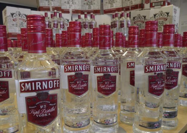 More than 150 bottles of vodka were seized from the shop