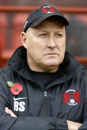 Russell Slade was devastated after Oldham's late equaliser: Action Images