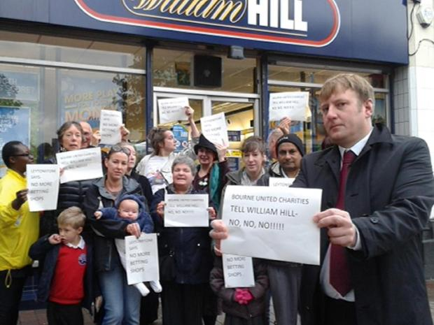 Cllr Clyde Loakes has campaigned with residents against proposed new bookmakers