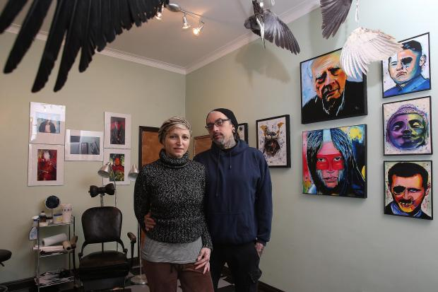 Husband and wife tattooists host art exhibition