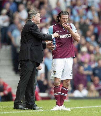Sam Allardyce and Andy Carroll. Picture: Action Images