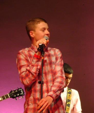 Ryan Green singing at West Hatch