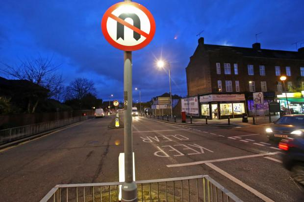 U-turns were banned on Clayhall Avenue yesterday evening.