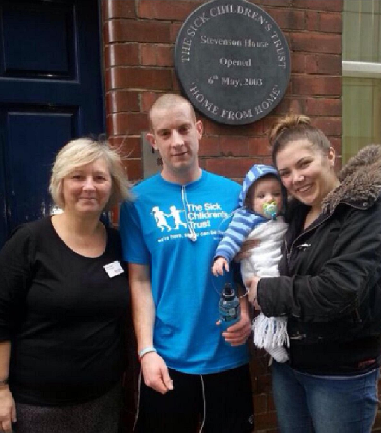 Greg at Stevenson House with Aly and Bradley and Joan Coker, House Manager of Stevenson House.