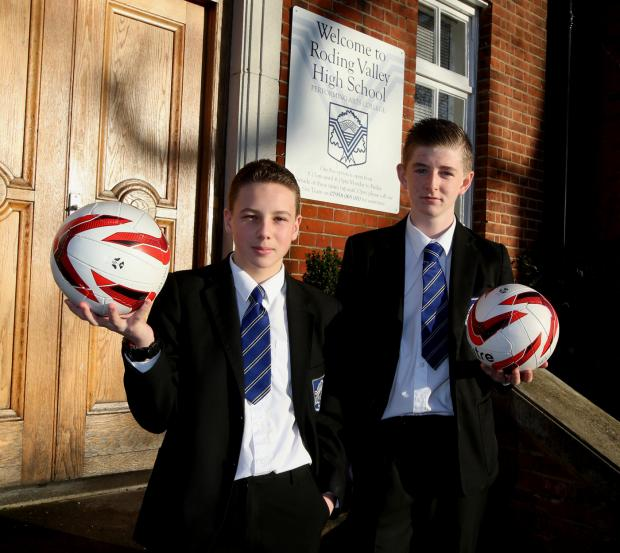 Roding Valley's Harry Francis (left) and Conner Turrell. Picture: Ken Mears