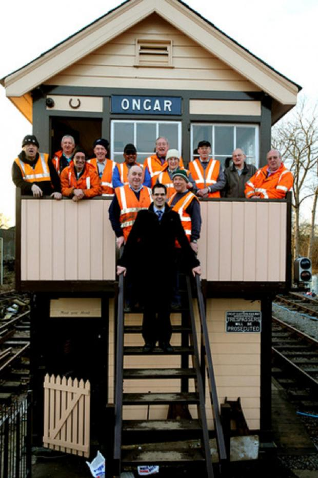 East London and West Essex Guardian Series: Simon Hanney and Epping Ongar Railway volunteers