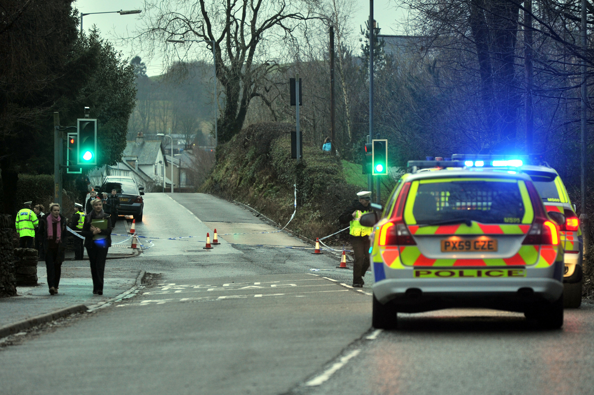 One man is in hospital after the two vehicle crash