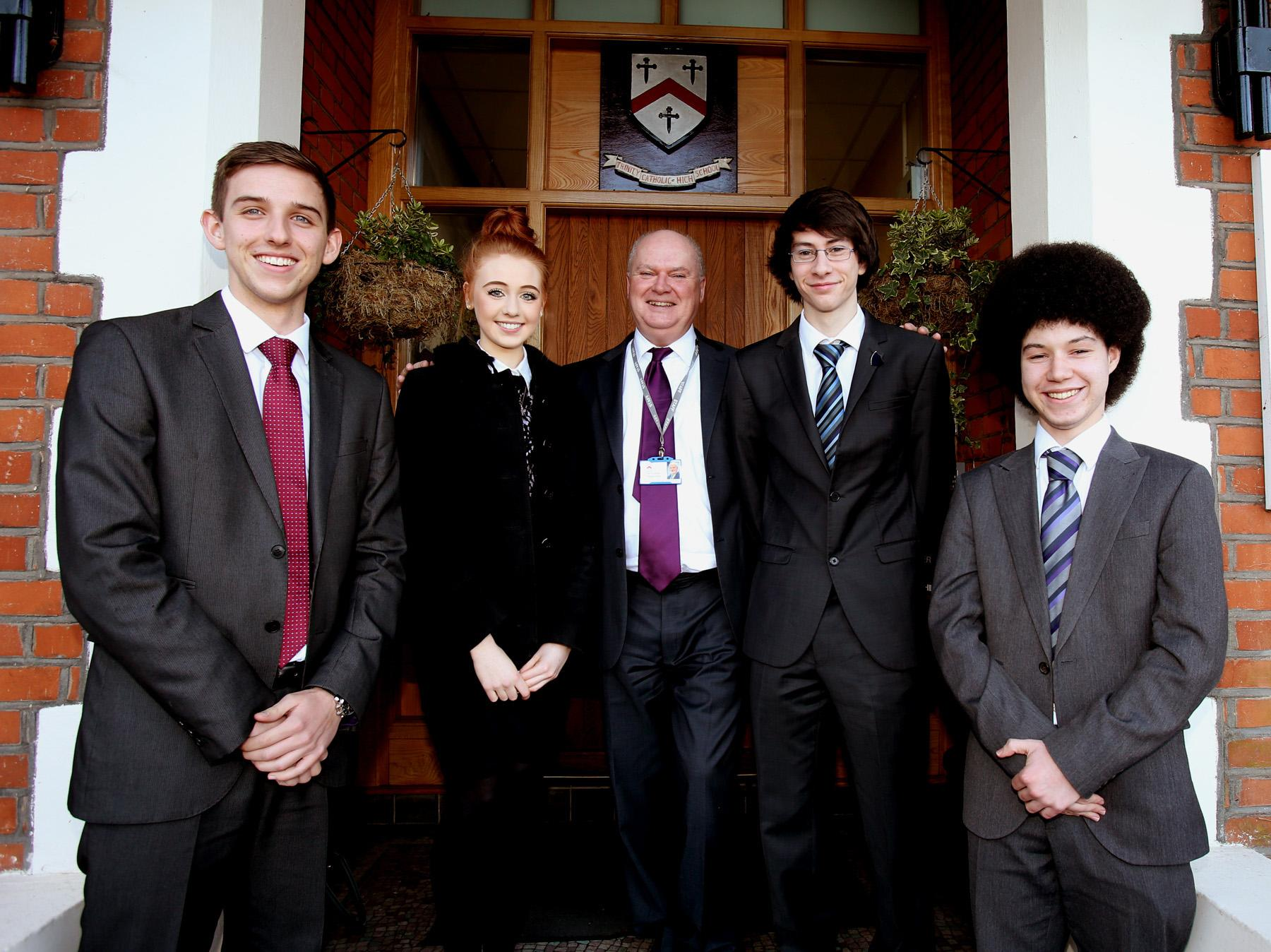 From left to right: Lewis Scott, Emma Hughes, Rob Healey, Luke Marrai and Lee Murray