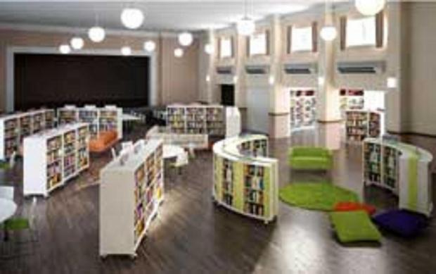 Artist's impression of the new library at Sir James Hawkey Hall