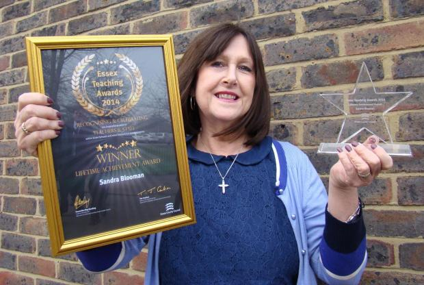 Sandra Blooman with her award