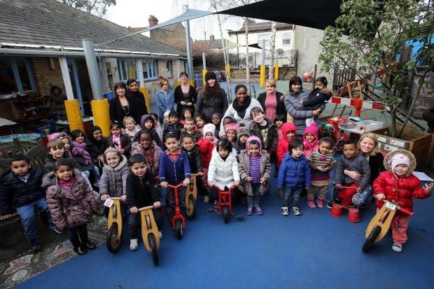 East London and West Essex Guardian Series: Children and staff at Low Hall Nursery this week.