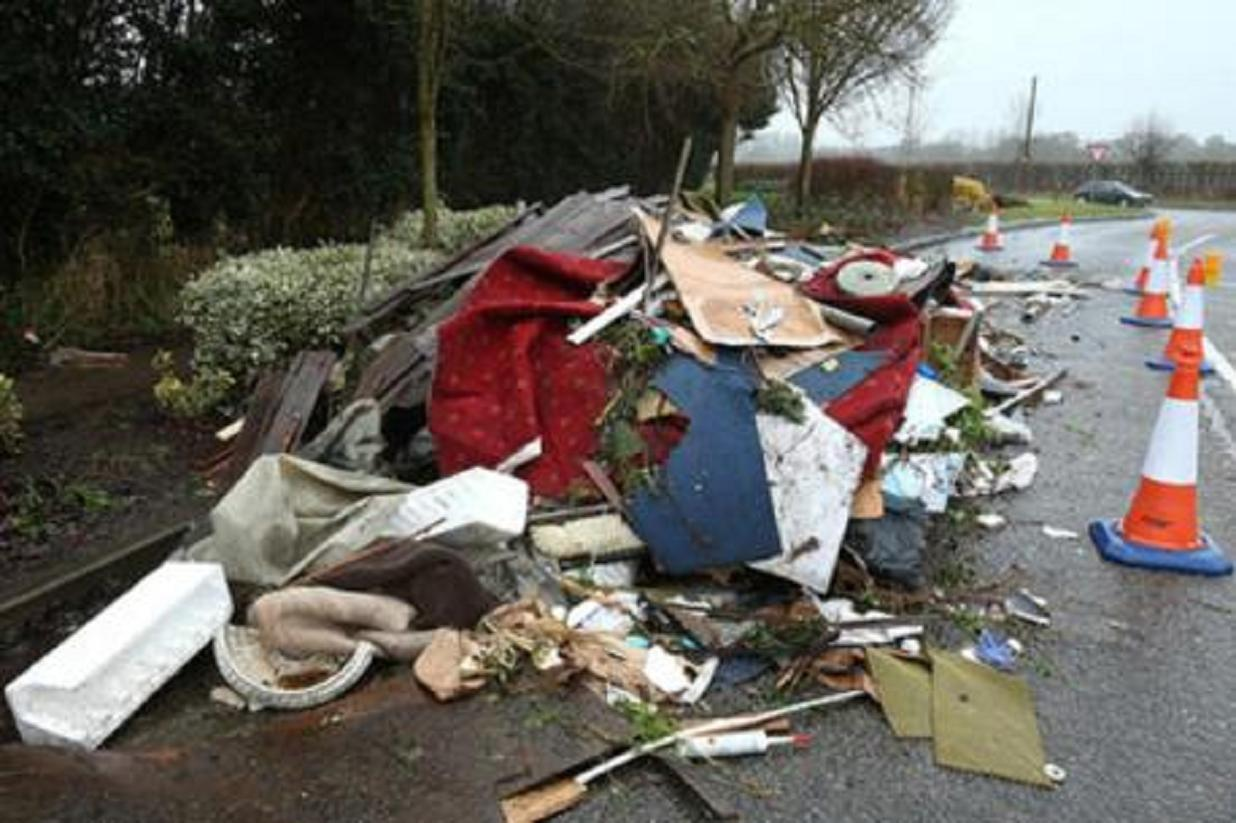 Debris in The Street, High Ongar