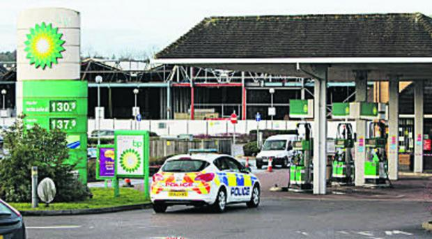 The BP petrol station in Ongar was targeted yesterday morning