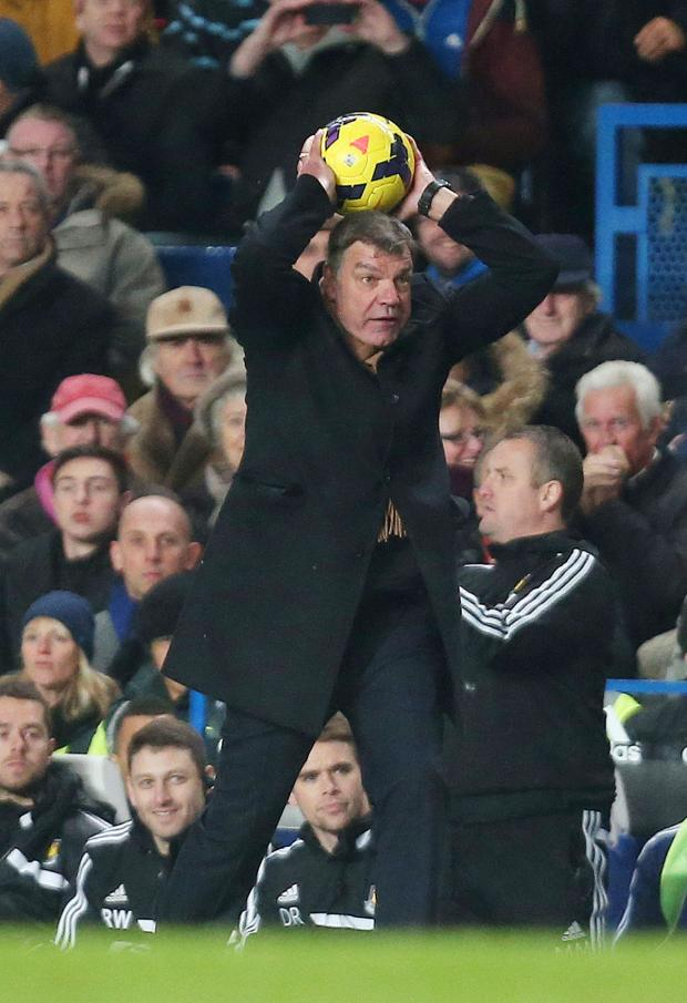 East London and West Essex Guardian Series: Getting involved in the action: Sam Allardyce. Picture: Action Images