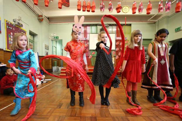 Pupils celebrate Chinese New Year