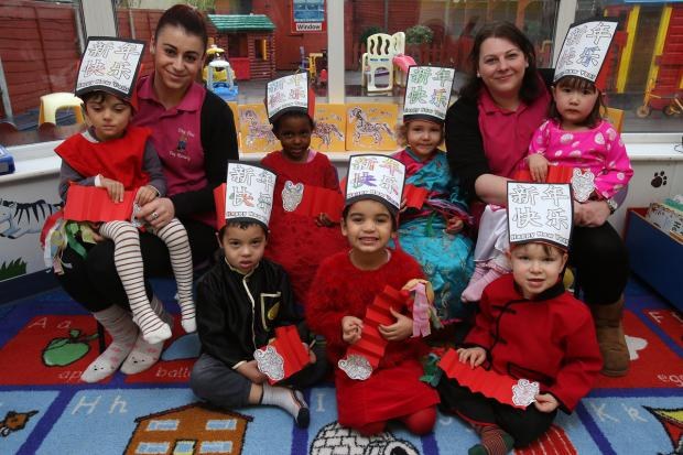 Tiny Tots Nursery celebrate Chinese New Year.
