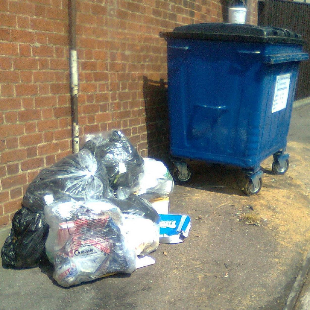 A woman has been fined after fly tipping in Upshire