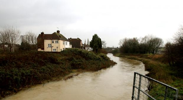 The Lower River Roding was put on flood alert on Wednesday